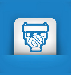 Basketball match vector