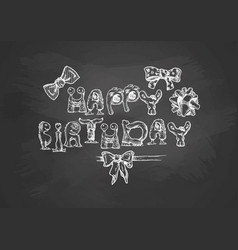 Birthday typography template vector