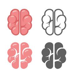 brain logo symbol education scientific startup vector image