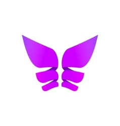 Butterfly colorful logo abstract wings shape in vector