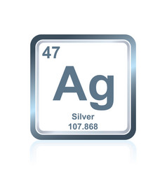 Chemical element silver from the periodic table vector