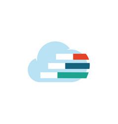 cloud data logo vector image