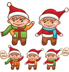 cute santa boy vector image