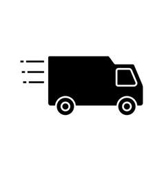 delivery van glyph icon vector image