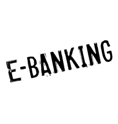 E-Banking rubber stamp vector image