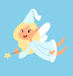 Fairy cute girl princess character adorable vector