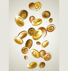 falling golden coins vector image