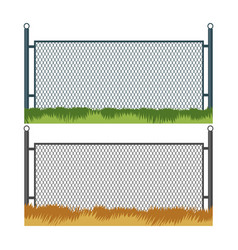 fence and grass vector image