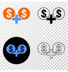 Financial sum eps icon with contour version vector