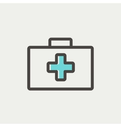 First aid kit thin line icon vector image