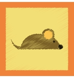 Flat shading style icon pet mouse vector