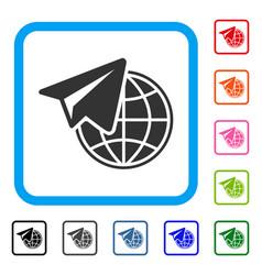 Freelance framed icon vector