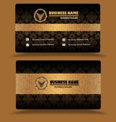 Golden business card template psd vector