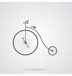 Gray Retro Bicycle Flat Icon vector