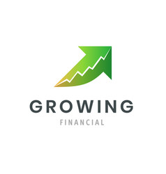 growing financial success business logo modern vector image
