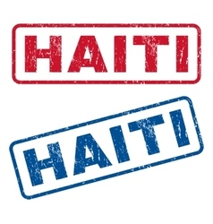 Haiti Rubber Stamps vector image