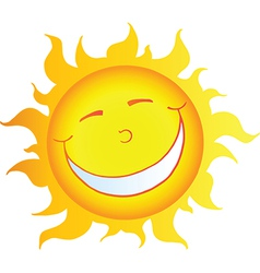 Happy Smiling Sun Cartoon Character vector image