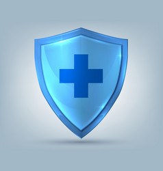 health shield realistic protection symbol with vector image