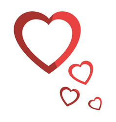 hearts and love decoration vector image