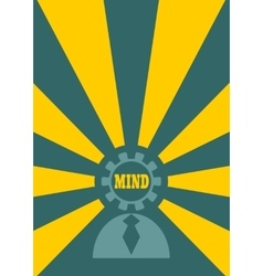 Human icon and mind shining vector image