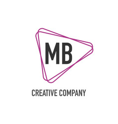 Initial letter mb triangle design logo concept vector