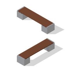 Isometric benches set vector