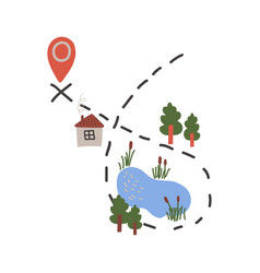 Journey route summer travel concept vector