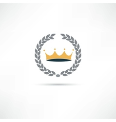 king icon vector image