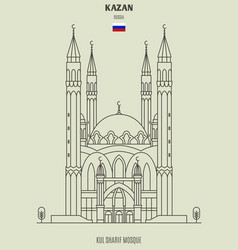 kul sharif mosque in kazan vector image