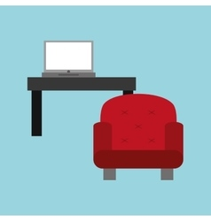laptop office related items icon vector image vector image