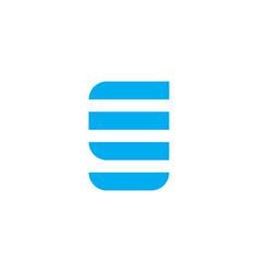 logo letter g blue stripes vector image