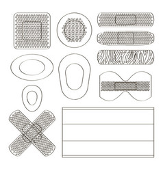 medical plasters of various shape vector image