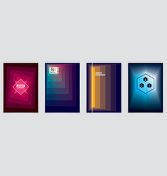 minimalistic brochure designs geometric abstract vector image