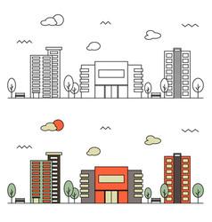modern street scenery vector image