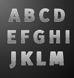 Modern Styles font vector image