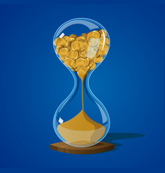 Money hourglass sand vector