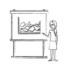 Monochrome blurred silhouette of businesswoman vector