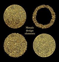 Mosaic design elements vector
