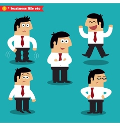 Office emotions in poses vector image