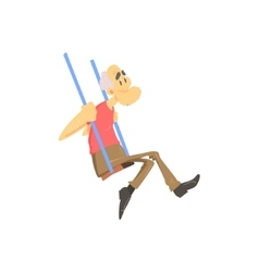 Old Man On Swings vector