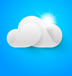One white cloud on blue sky vector image