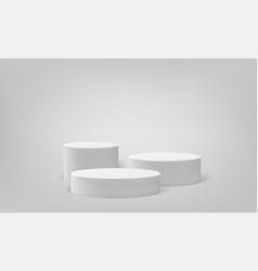 Podium scene pillar stand scene pedestal vector