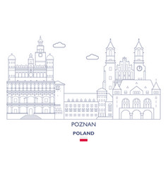 poznan city skyline vector image