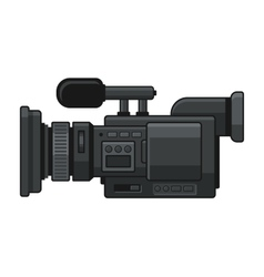 Professional Digital Video Camera Recorder Icon vector