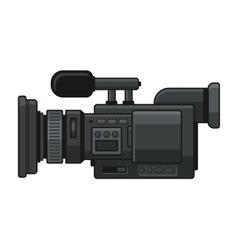 Professional Digital Video Camera Recorder Icon vector image