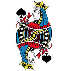 Queen of spades isolated french version vector