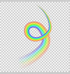rainbow isolated on transparent background vector image