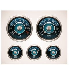 Retro car gauges vector