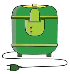 Rice cooker cartoon vector
