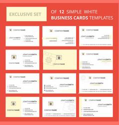set of 12 website programming creative busienss vector image
